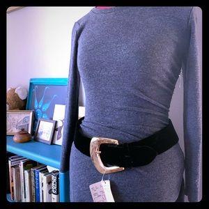 vintage 80s/90s deadstock Jill Stuart velvet belt